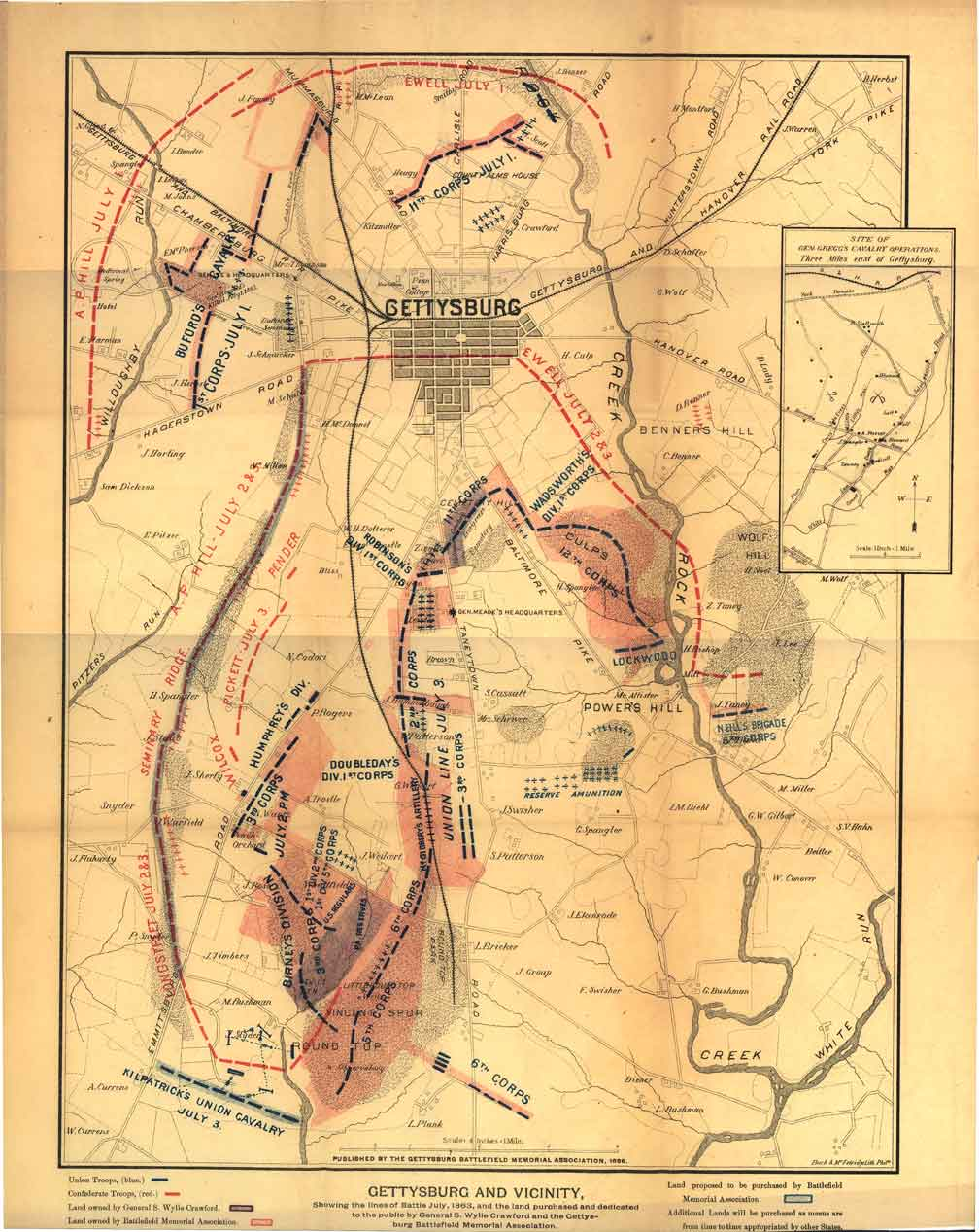 maps of the field of gettysburg